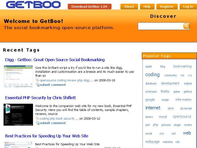 Full GetBoo screenshot