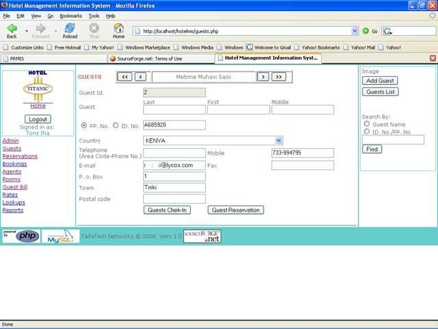 Hotel Management Information System Wiki Home