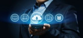 cloud adoption and data management concept