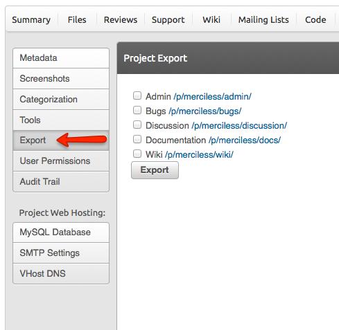 Export screenshot