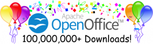 Apache OpenOffice 100 Million Mark logo