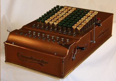 The Model ST comptometer, built circa 1930s - Image taken from Wikipedia