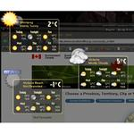 Weather prototype, with 'default dark' theme