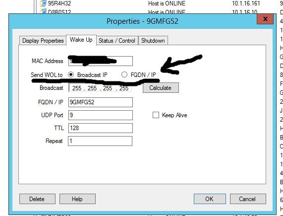 Wake On Lan / Discussion / Help:How to make the wake up setting