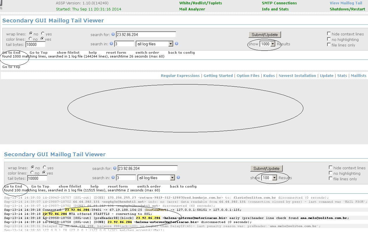 Anti-Spam SMTP Proxy Server / Tickets / #22 GUI Maillog tail