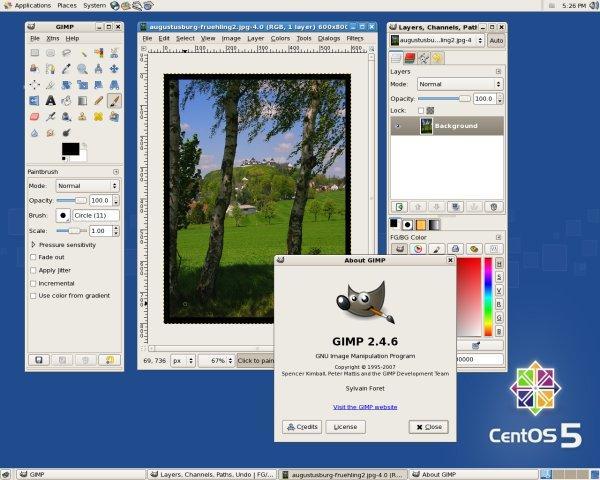 Gimp 2.4 auf Centos 5.2 x86