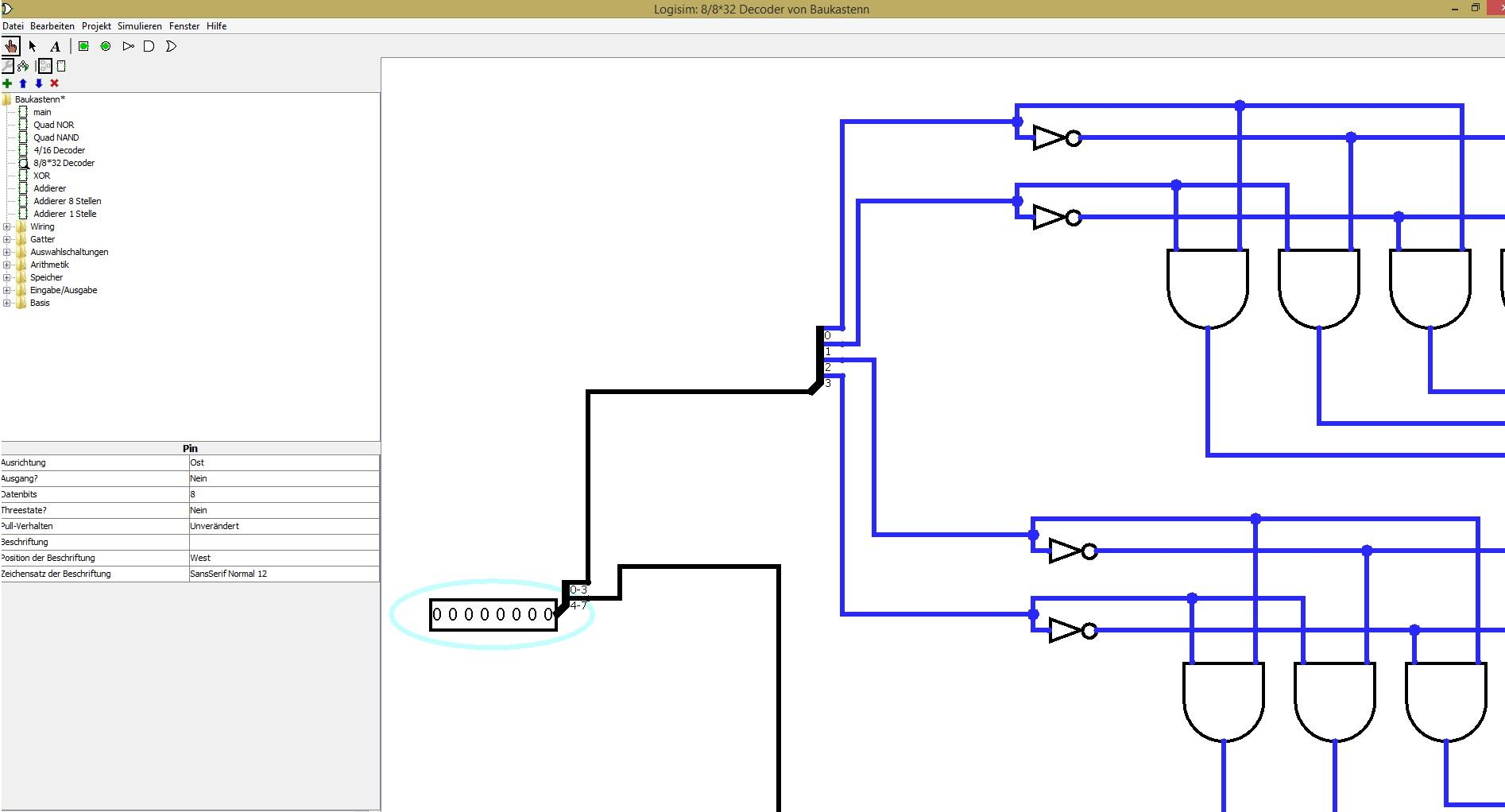 Logisim Bugs 135 Every Conection Turns Blue From One Moment The 4 To 16 Decoder Logic Diagram Problem 1