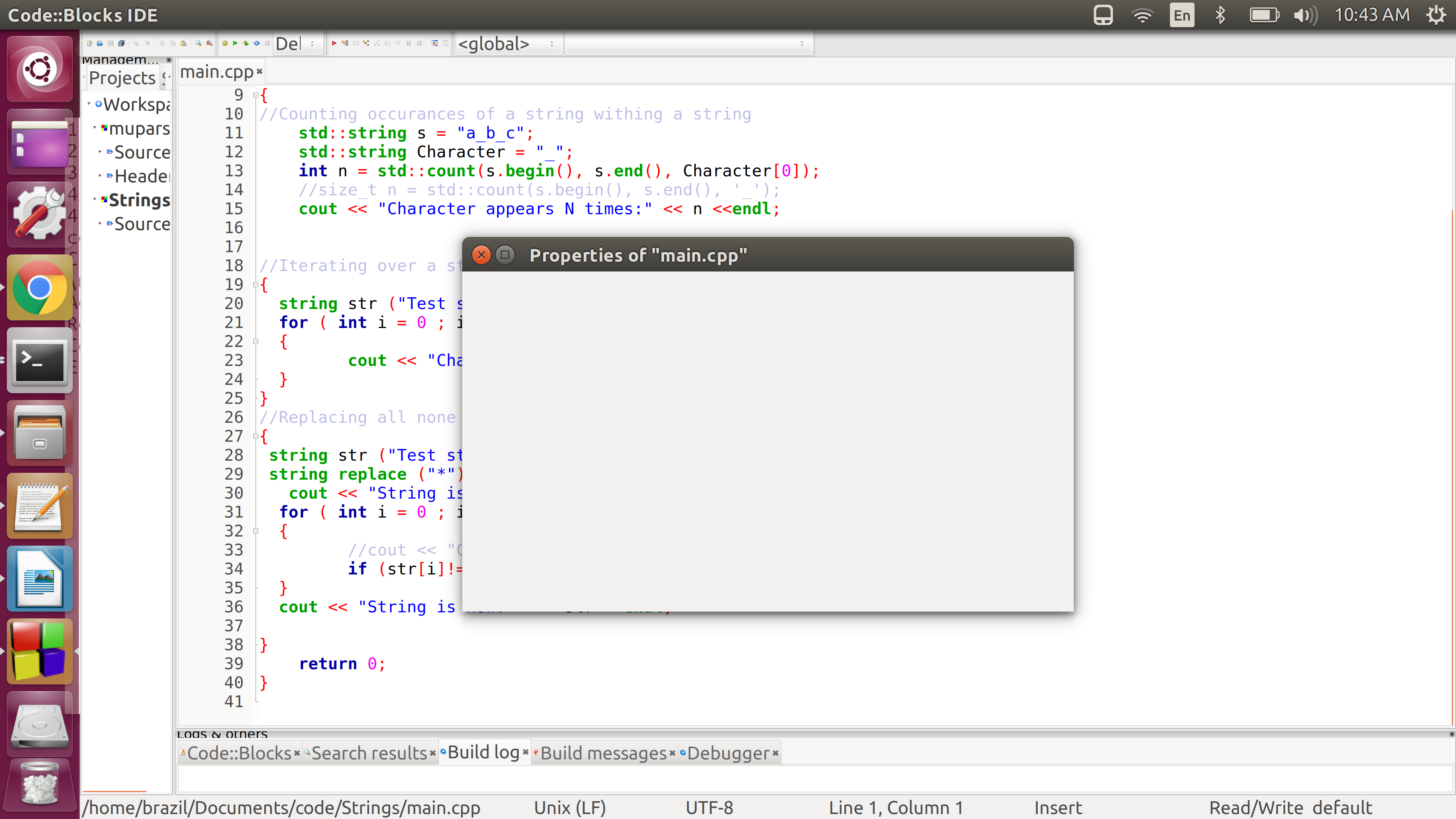 Code::Blocks / Tickets / #447 Codeblocks crash on showing