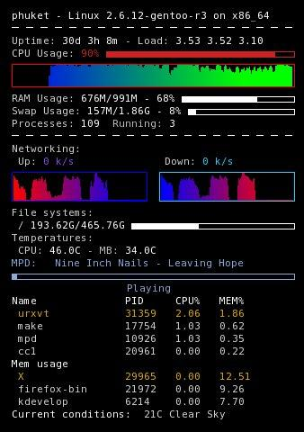 gambar screenshot conky