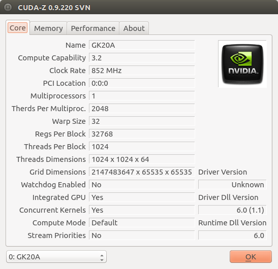 cuda-z / Discussion / Help:Trying to build for armhf (Nvidia K1)