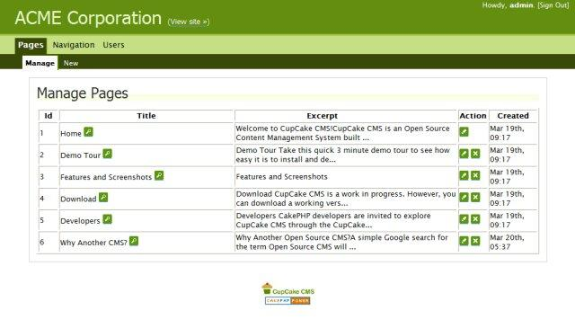 Features and Screenshots - CupCake CMS