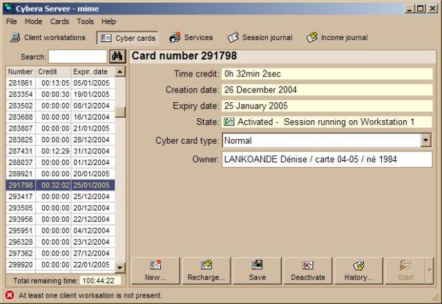 cybera client et serveur