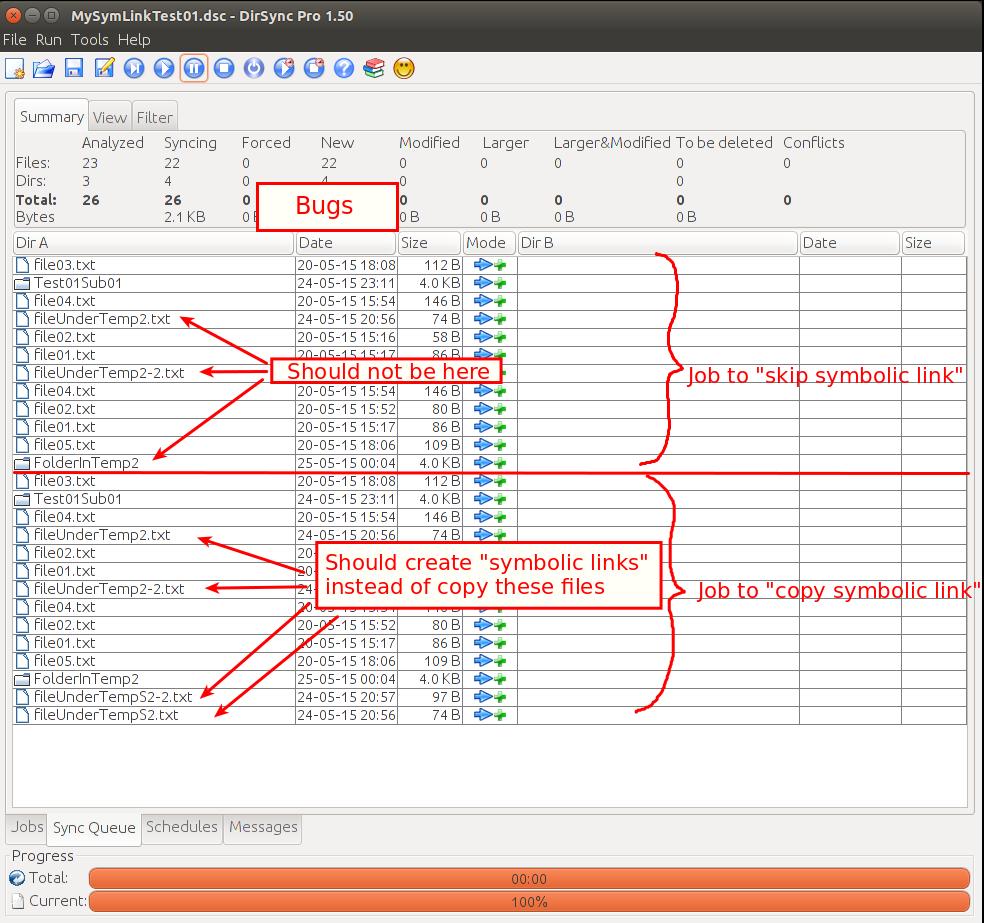 Directory synchronize pro dirsync pro bugs 289 symbolic mysymlinktest01dsc dirsync pro 150001g buycottarizona