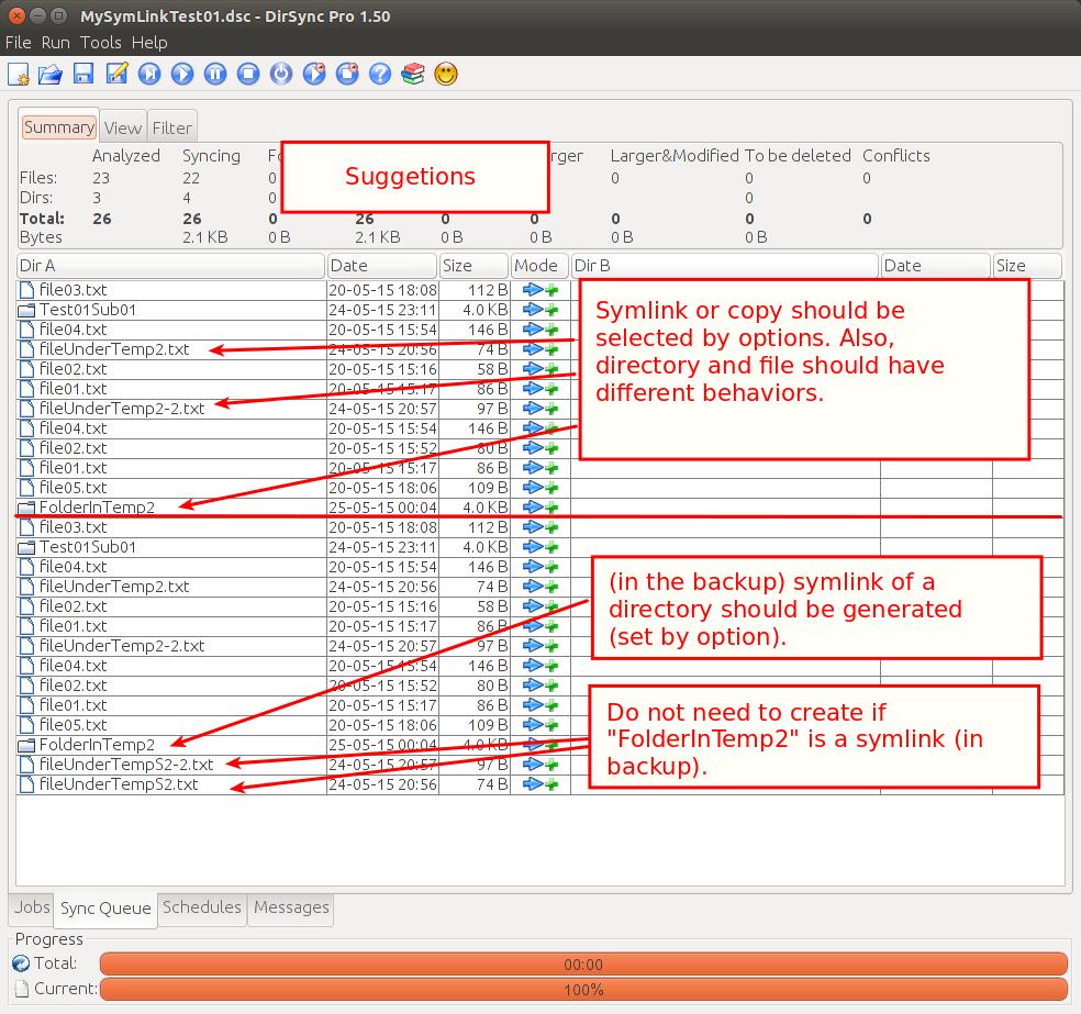 Directory Synchronize Pro Dirsync Pro Bugs 289 Symbolic Link Bugs