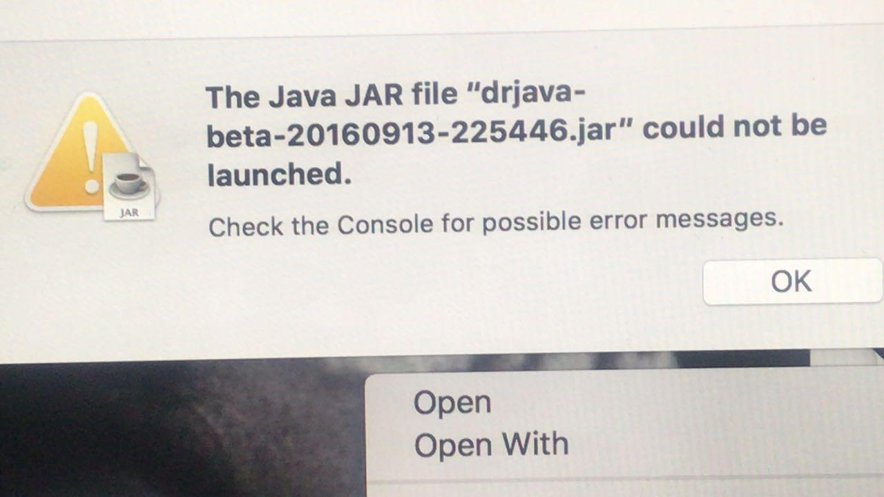 DrJava / Support Requests / #335 Can't Open DrJava