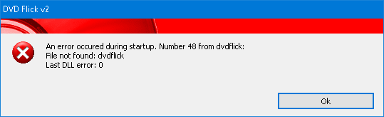 DVD Flick v2 / Tickets / #8 Error 48 on startup