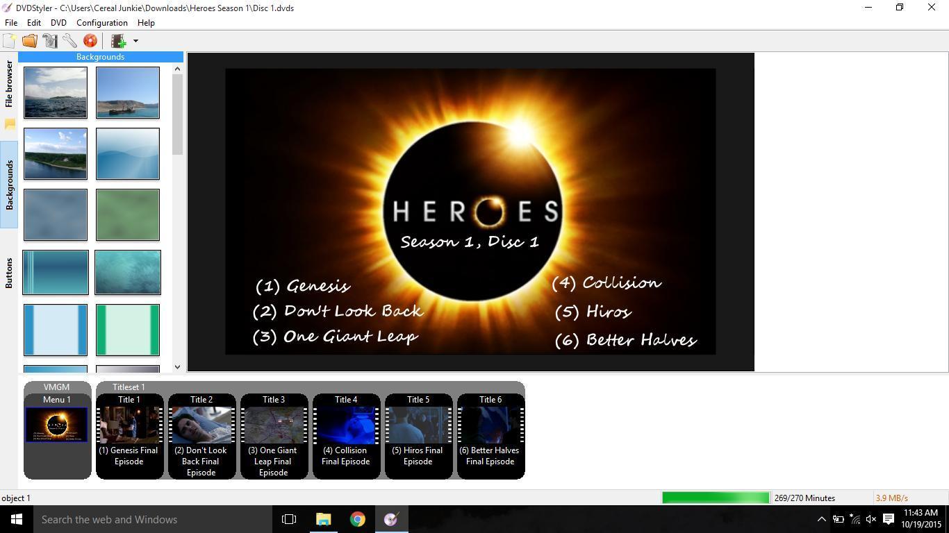 DVDStyler gravação de DVD screenshot 1