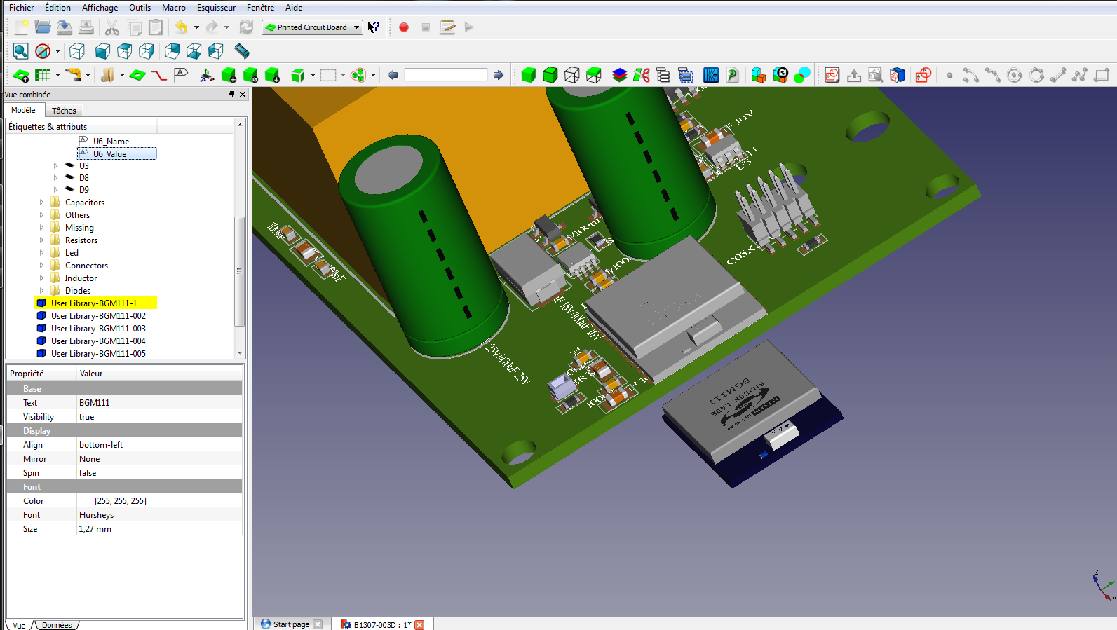 FreeCAD-PCB / Forum / Help:  STEP file import without color