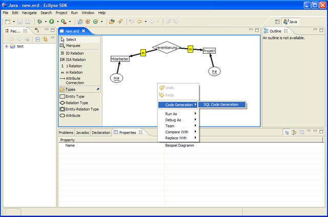 Er diagram editor for eclipse wiki home just a small er diagram screenshot thumbnail ccuart Gallery