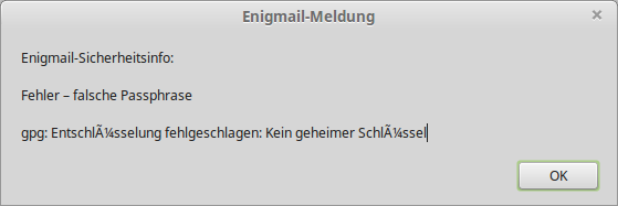 Enigmail / Forum / Enigmail Support:Resolving Issues with