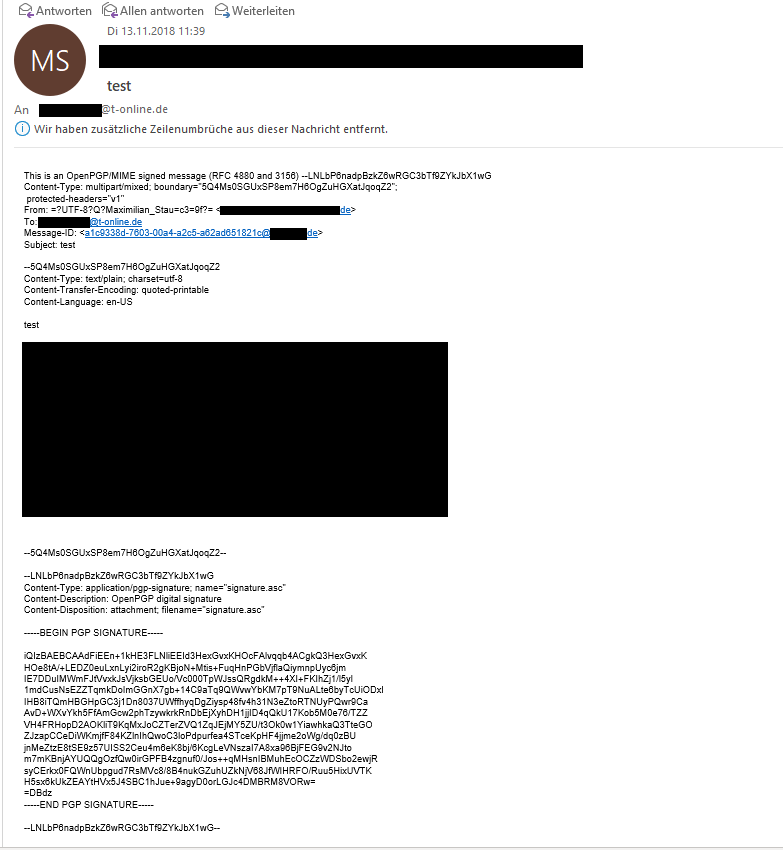 Enigmail / Forum / Enigmail Support:Signed Email not displayed