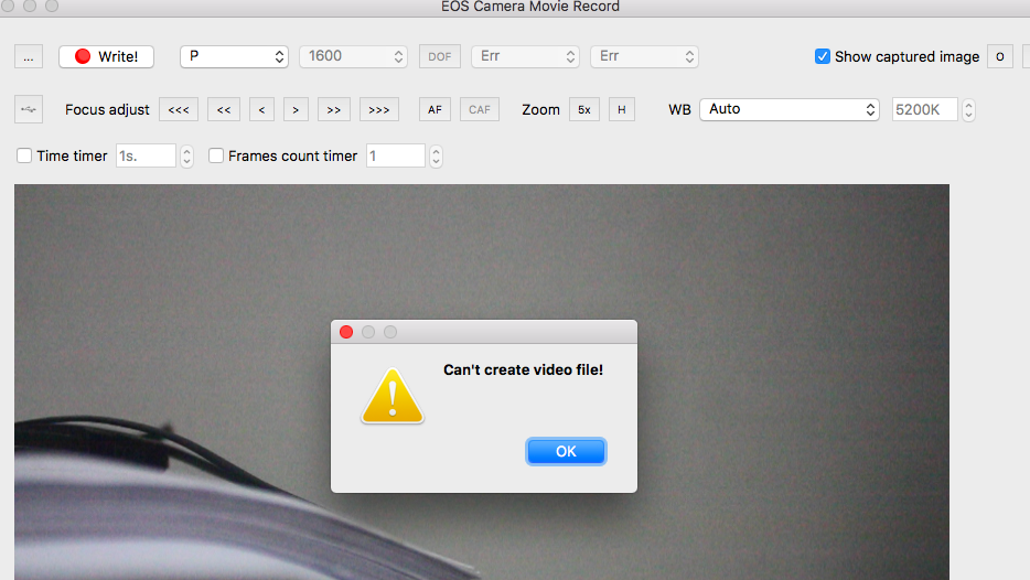 EOS Camera Movie Record / Tickets / #5 Link to latest Mac version