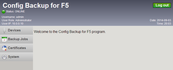 Config Backup for F5 / Documentation / User Guide