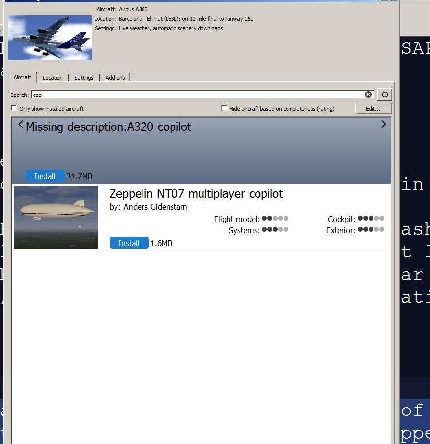 FlightGear - Flight Simulator / Tickets / #1865 Multiple