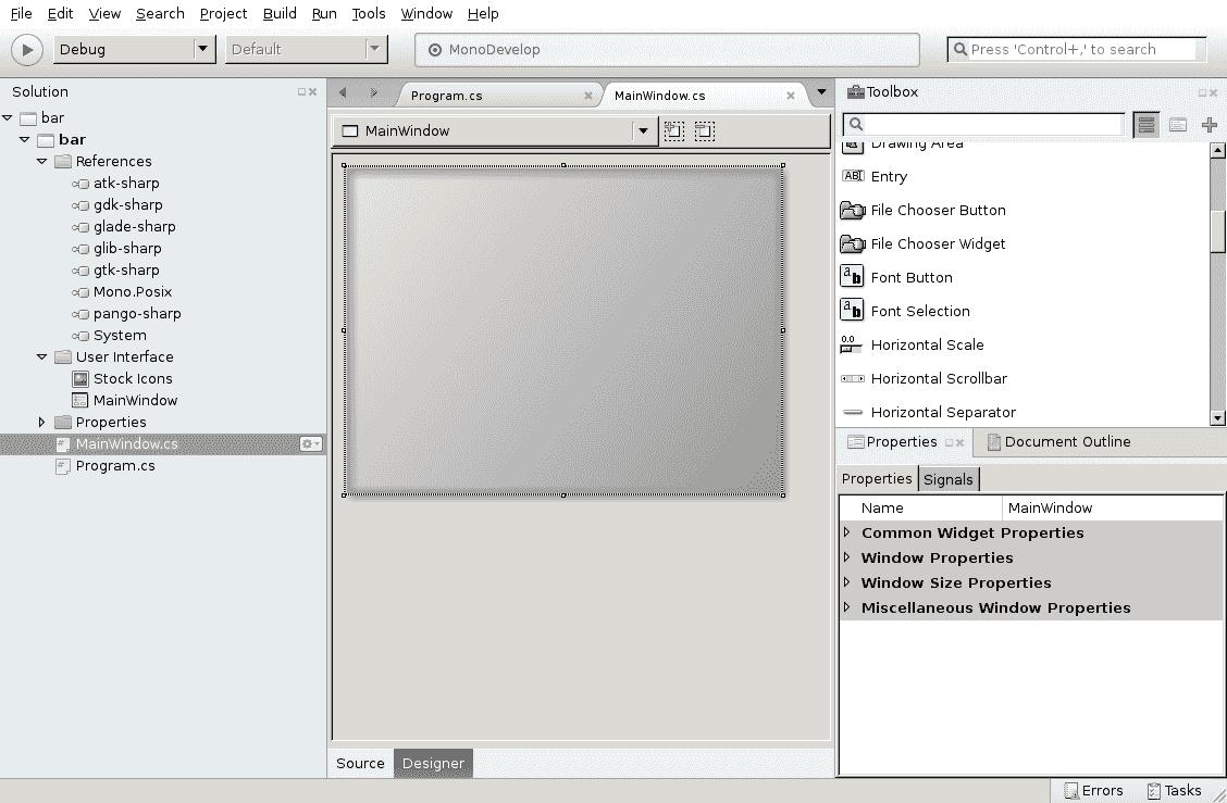 Fluxbox / Bugs / #1099 MonoDevelop GTK# Designer isnt working