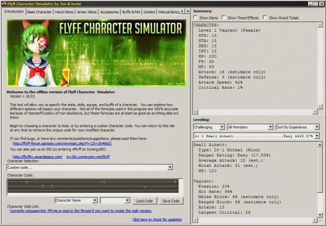 Flyff Character Simulator / Wiki / Home
