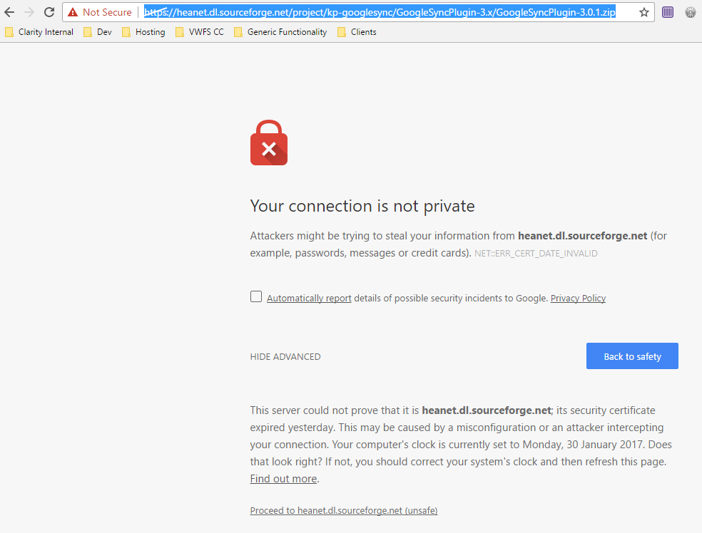 Sourceforge Support Site Support 14331 Ssl Certificate Expired
