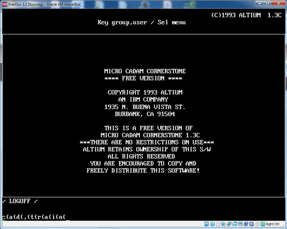 The FreeDOS Project / Bugs / #252 Press one key on keyboard