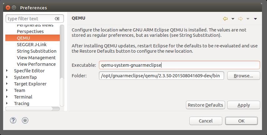 GNU ARM Eclipse / Support requests / #160 Error when