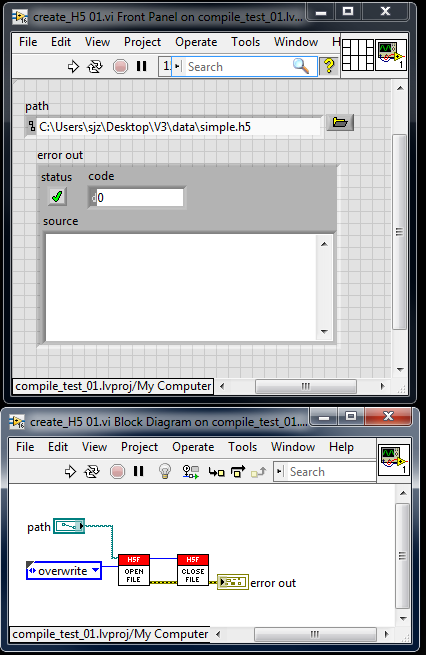 h5labview / Discussion / General Discussion:compiling to an executable
