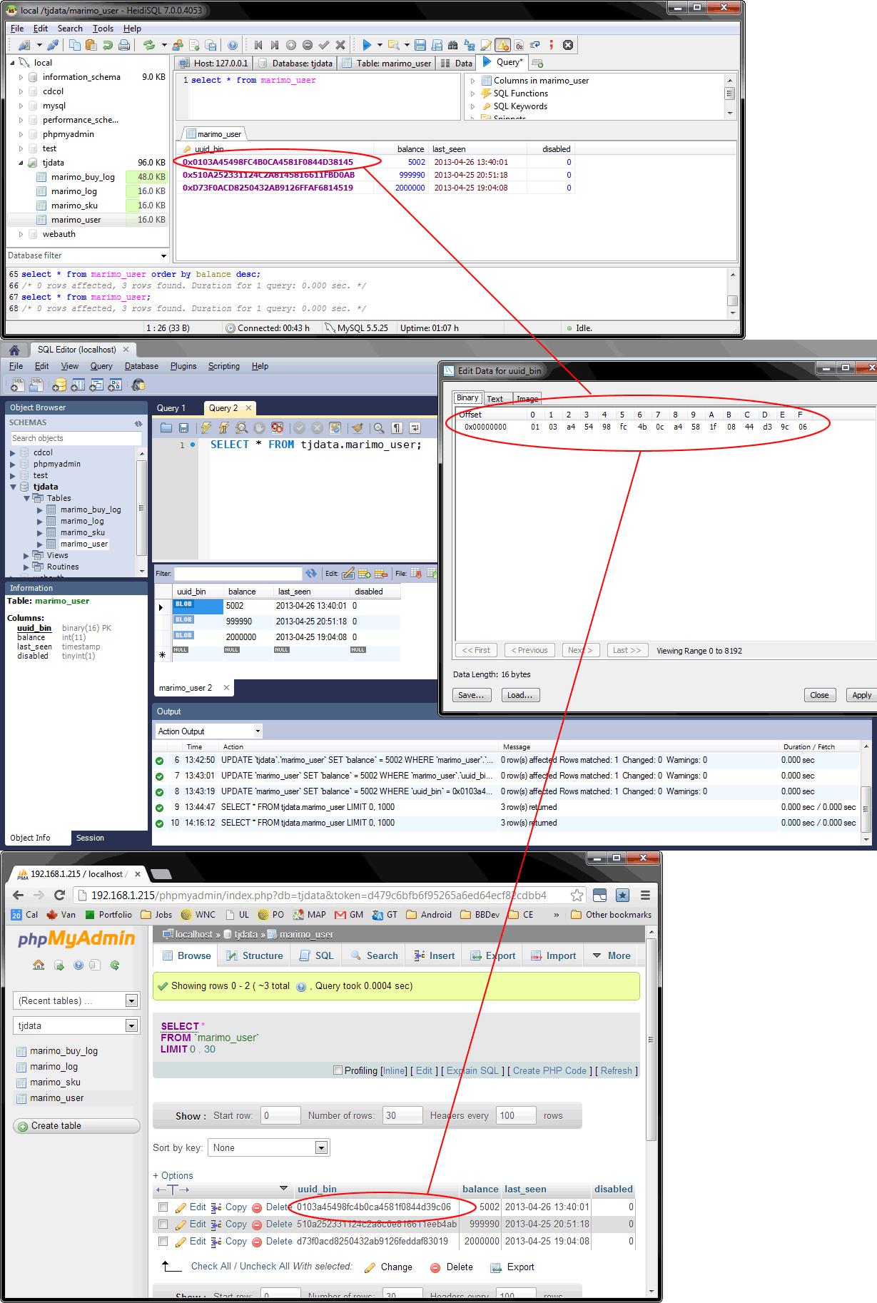 heidisql / Tickets / #3102 VARBINARY datatype output incorrect