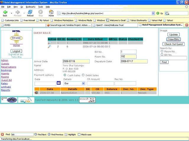 Source Forge Programs: Hotel Management Information System