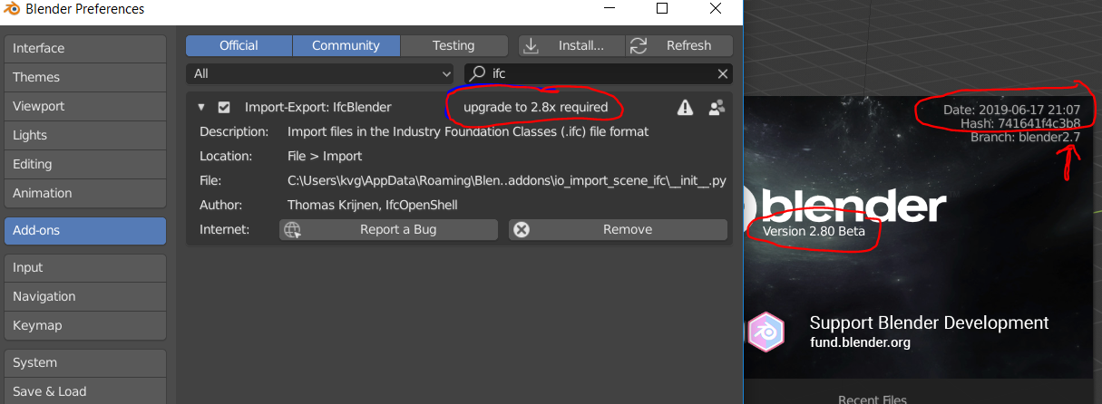 IfcOpenShell / Forums / Development: IfcBlender for Blender 2 8