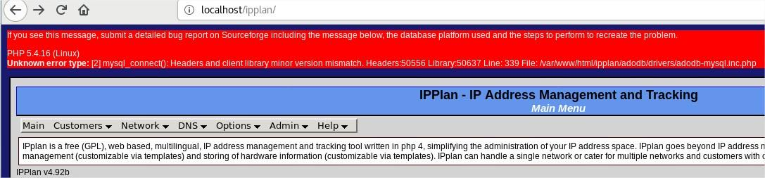 IPplan IP address management system / Discussion / Help:Installation