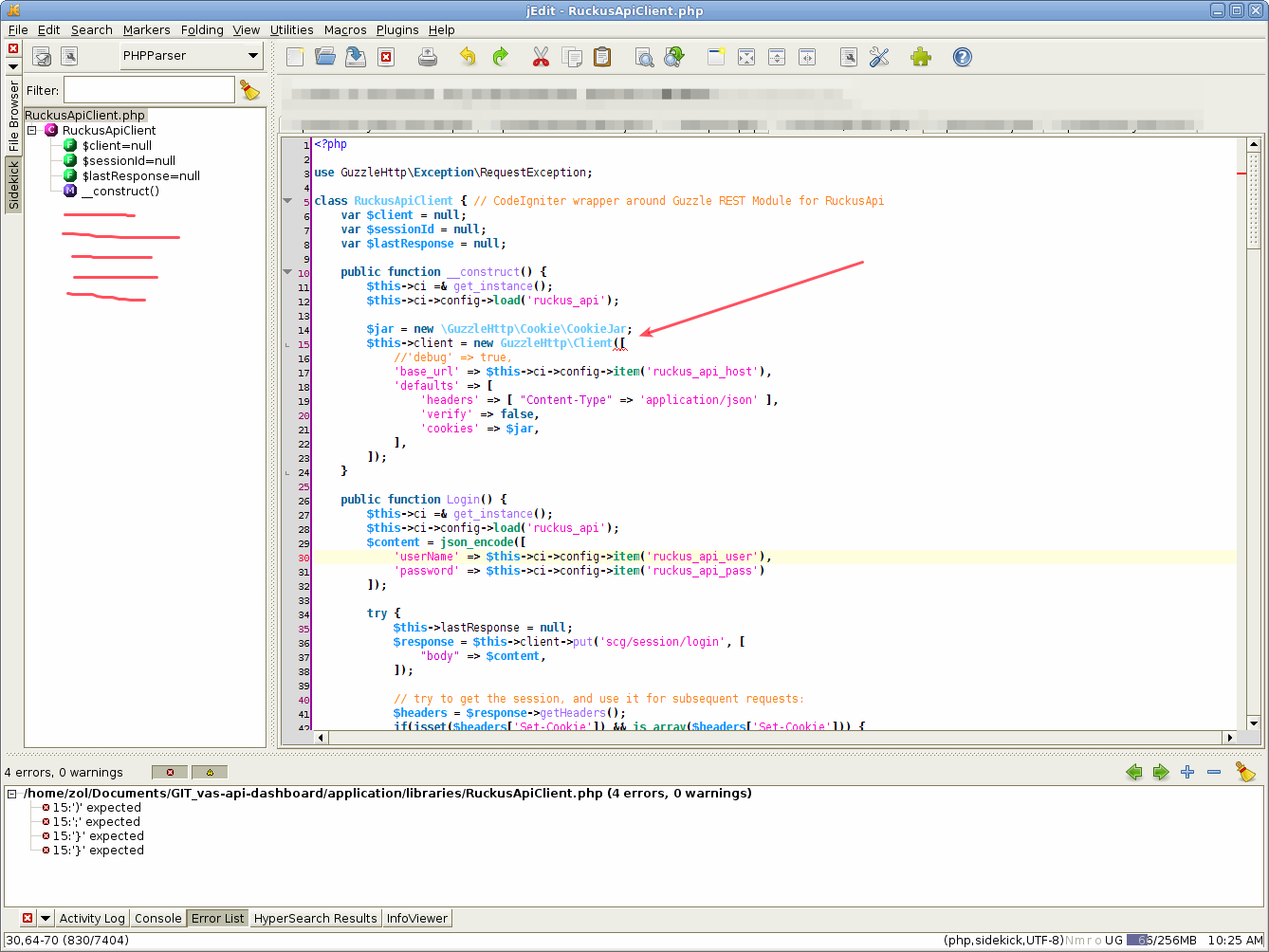 jEdit / Plugin Bugs / #1843 PHP 5 4+ short array syntax not