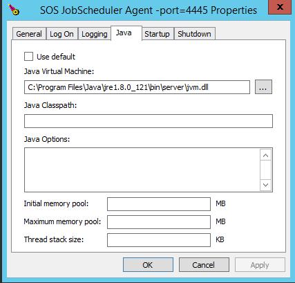 JobScheduler / Discussion / Help:Error trying to run Universal Agent