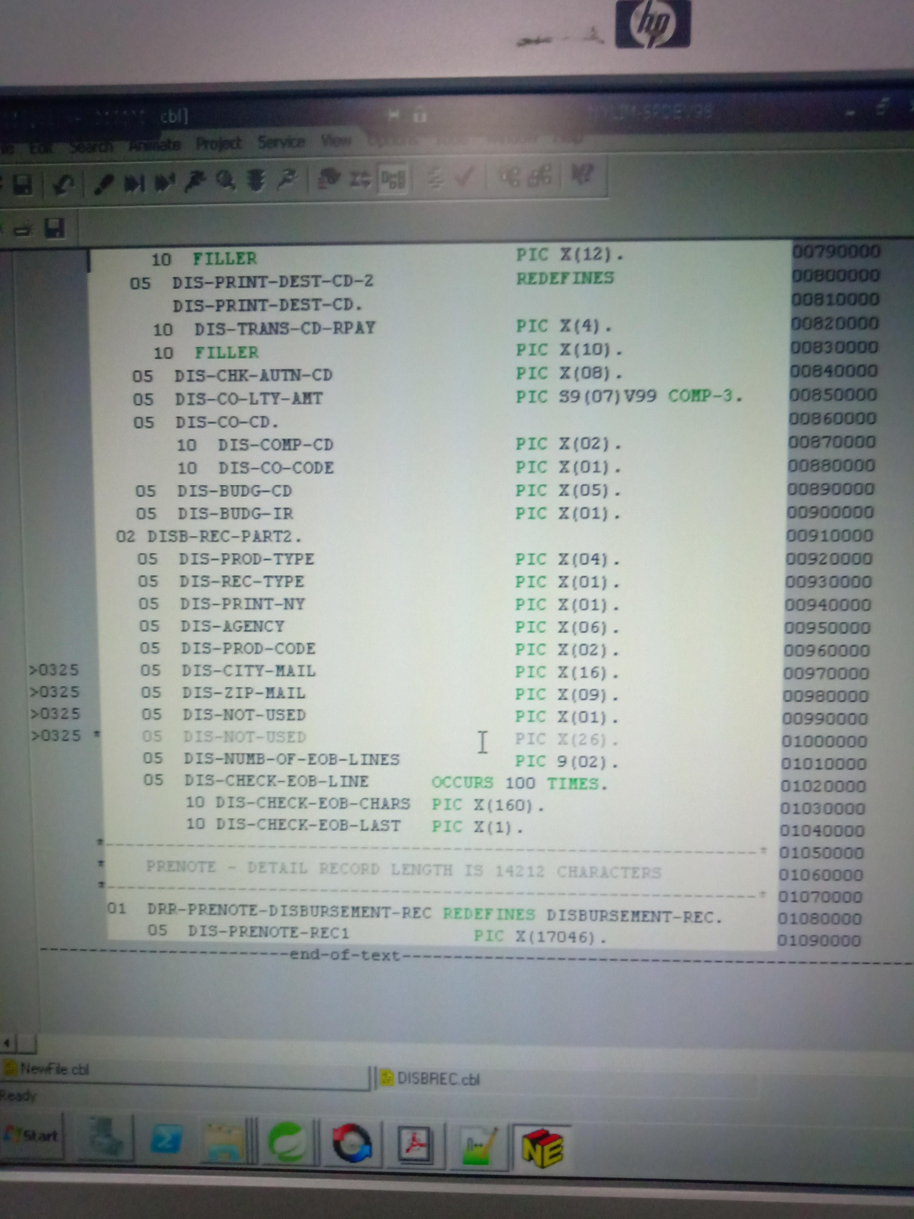 JRecord / Discussion / Help:Parsing cobol text files(copybook and