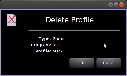 Delete Profile UI