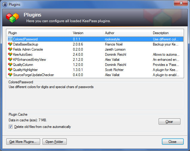 KeePass / Discussion / Open Discussion: New plugin