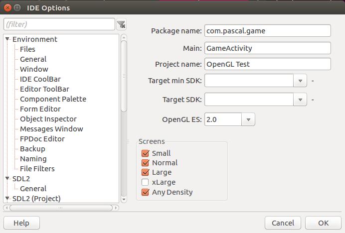 LazSDL2 / Wiki / LazSDL2Design configuration