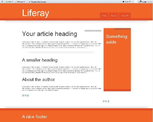 liferay theme for html5