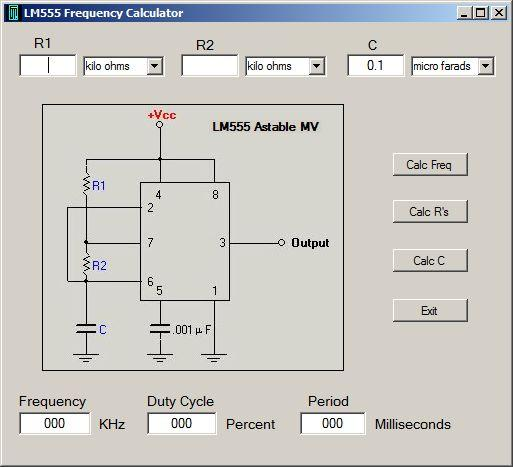 LM555 Timer Calculator / Wiki / Home