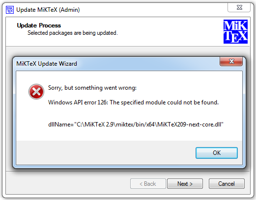 The Module 7z Dll Failed To Load