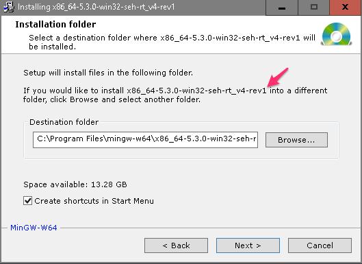 mingw w64 installer exe