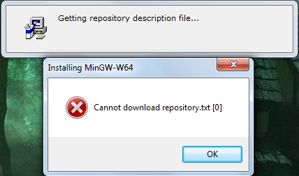 MinGW-w64 - for 32 and 64 bit Windows / Bugs / #410
