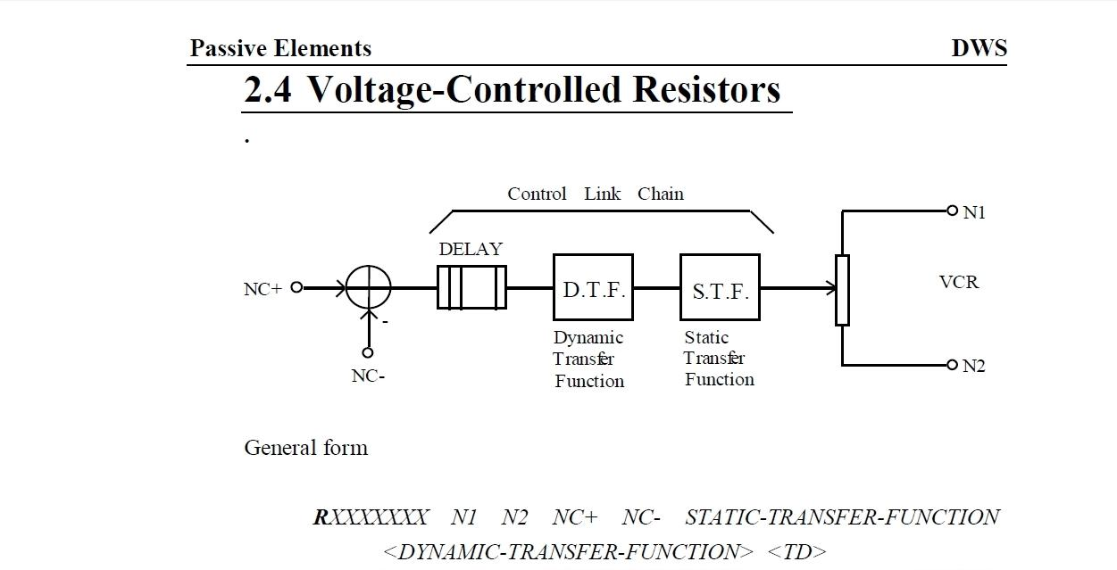 Ngspice Discussion Usersspice Dws Integration Voltage Controlled Resistor Pictures If